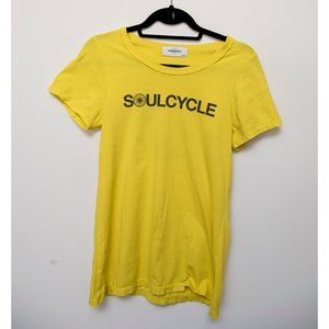 """Soulcycle yellow short sleeved tee sz M """"STAFF"""""""